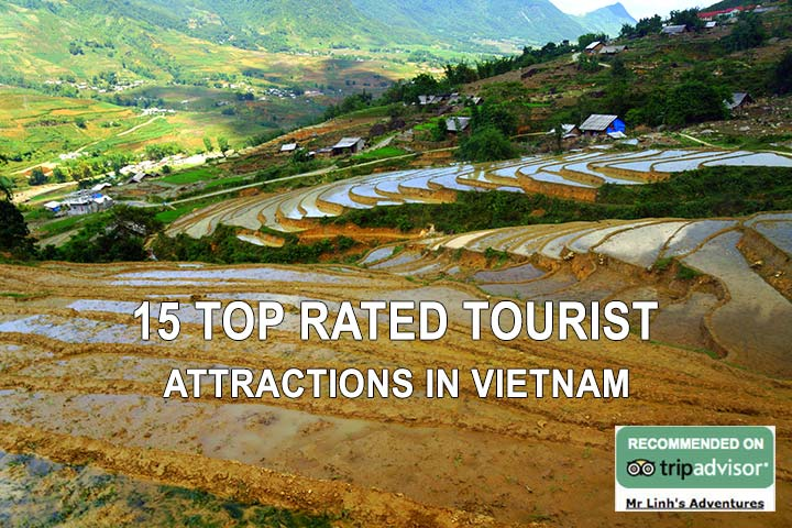 15 top rated tourist attractions in Vietnam