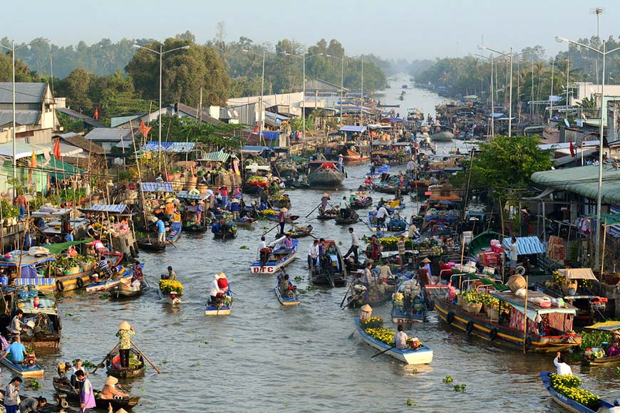 Vietnam's floating markets.