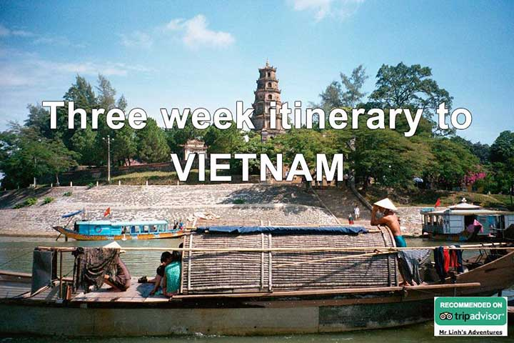 Three week itinerary to Vietnam